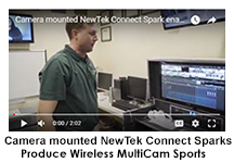 NewTek Connect Sparks Mounted on Cameras with Mobile Studios SparkMount