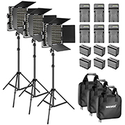 3-Pack Studio Lighting Kit - Daily and Weekly Rental - CLICK FOR PRICING